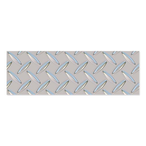 Diamond Plate Metallic Pack Of Skinny Business Cards