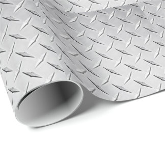 Diamond Plate Wrapping Paper