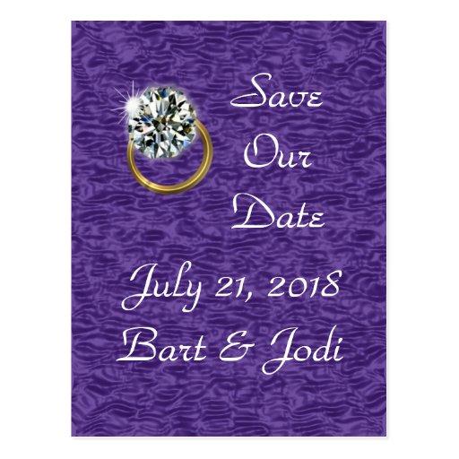 Diamond Postcard Save-the-Date  - customize
