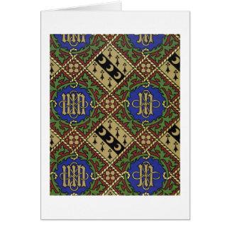 Diamond print ecclesiastical wallpaper design card