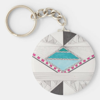 Diamond Puzzle Basic Round Button Key Ring