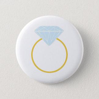 Diamond Ring 6 Cm Round Badge