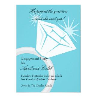 Diamond RIng Bling 14 Cm X 19 Cm Invitation Card