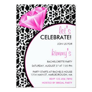 Diamond Ring Bling Bachelorette Party 13 Cm X 18 Cm Invitation Card