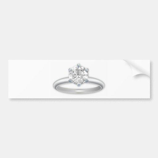 Diamond Ring Bling Clipart Bumper Sticker