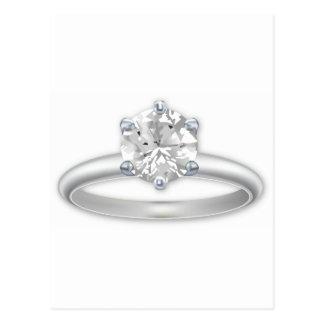 Diamond Ring Bling Clipart Postcard