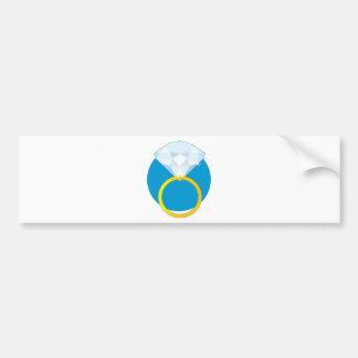 Diamond Ring Bumper Sticker