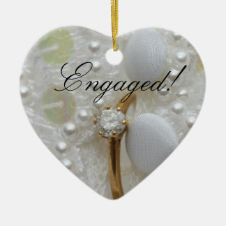 Diamond Ring Engagement announcement ornament