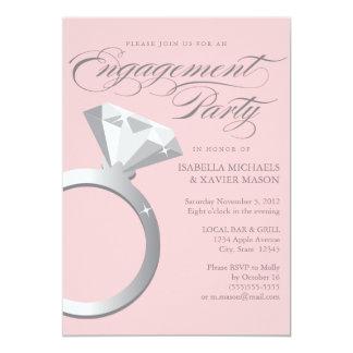 Diamond Ring | Light Pink 13 Cm X 18 Cm Invitation Card