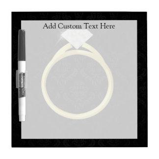 Diamond Ring on Black Dry Erase Board