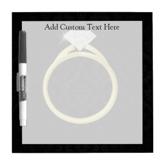 Diamond Ring on Black Dry Erase Whiteboards