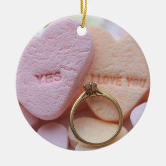 Diamond Ring Proposal Ornament