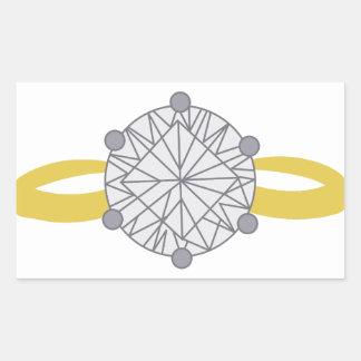 Diamond Ring Rectangular Sticker