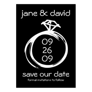 Diamond Ring Save The Date Business Cards