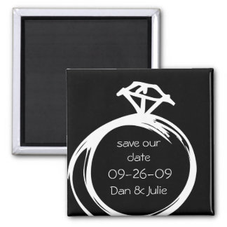 Diamond Ring Save The Date Magnet