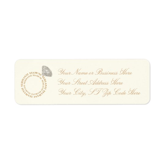 Diamond Ring Typography Return Address Labels