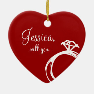 Diamond Ring Will You Marry Me Ornament