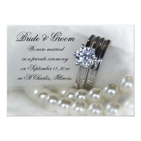 Diamond Rings White Pearls Marriage Announcement