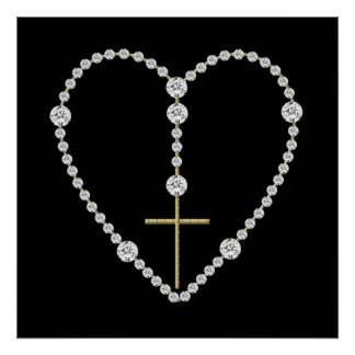 Diamond Rosary - Hail Mary Full of Grace Poster