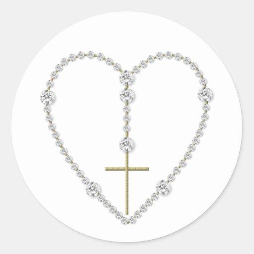 Diamond Rosary - Hail Mary Full of Grace Stickers