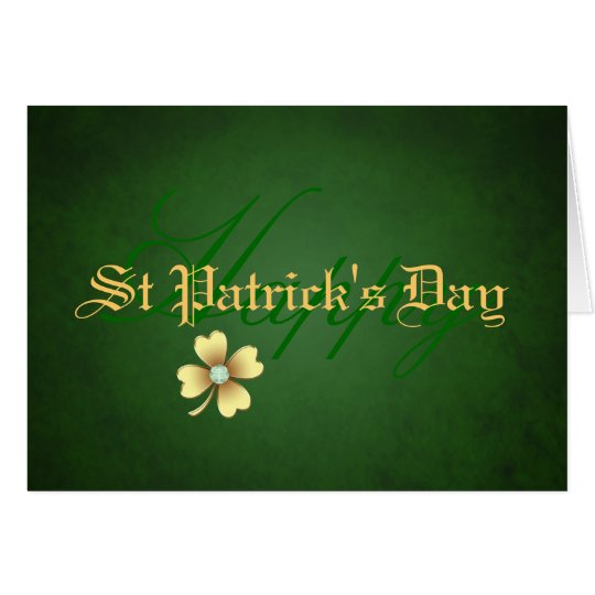 Diamond Shamrock St Patrick's Day Card