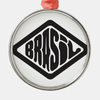diamond shape Brasil retro logo Metal Ornament