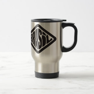 diamond shape Brasil retro logo Travel Mug
