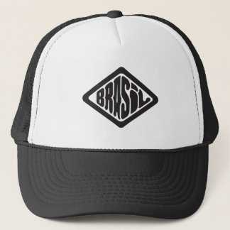 diamond shape Brasil retro logo Trucker Hat