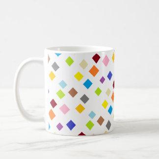 Diamond Shaped Color Pattern Coffee Mug