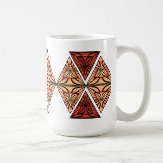 Diamond shaped Flora Basic White Mug