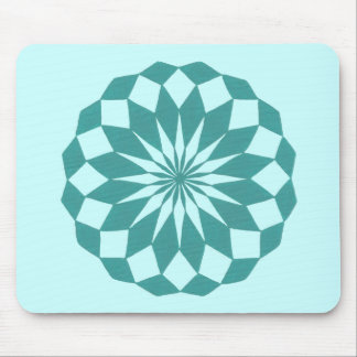 Diamond Shapes in Teal Turquoise Mandala Mousepads