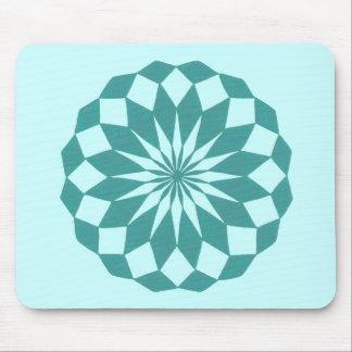 Diamond Shapes in Teal Turquoise Mandala Mousepads