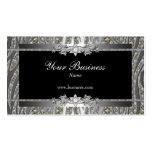 Diamond Silver Black Elegant Zebra Jewel Pack Of Standard Business Cards