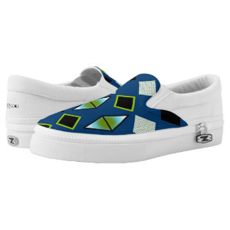 DIAMOND SLIP ONS, i Art and Designs Printed Shoes