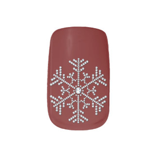 Diamond Snow Flake Minx Nail Art
