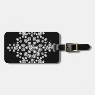Diamond Snowflakes Luggage Tag