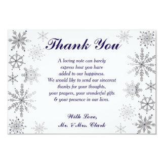 Diamond Snowflakes Thank you Card