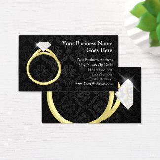 Diamond Solitaire Ring Jewelry Jeweler Wedding Business Card