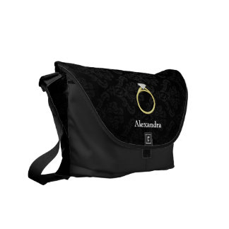 Diamond Solitaire Ring Commuter Bags