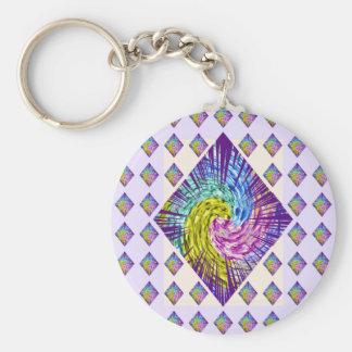 DIAMOND Sparkle Pattern Basic Round Button Key Ring