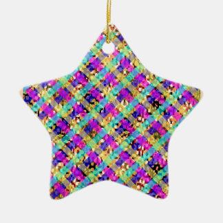 Diamond Star Ceramic Star Decoration