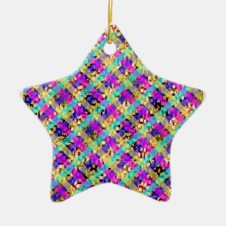 Diamond Star Double-Sided Star Ceramic Christmas Ornament