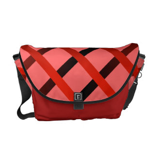 Diamond Stripes Rickshaw Messenger Bag