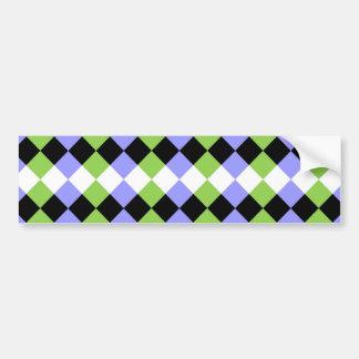 Diamond Strips Bumper Sticker