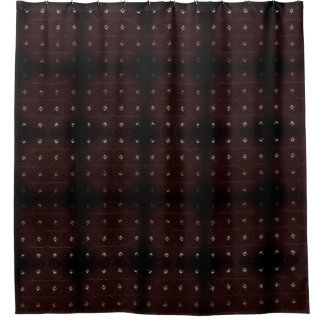Diamond Stud Burgandy Shower Curtain