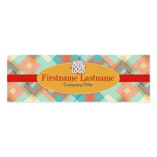 Diamond textile Retro Mini Business Cards