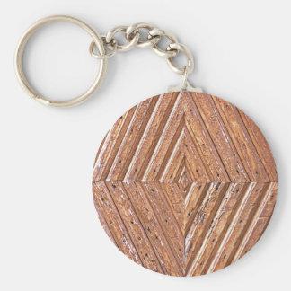 Diamond texture key ring