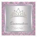 Diamond Tiara Pink Princess Party Personalised Invitations