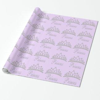 Diamond Tiara Purple Princess Wapping Paper