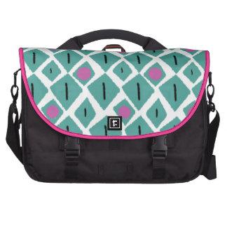 Diamond Turquoise with Pink Circles Pattern Bag Laptop Bag
